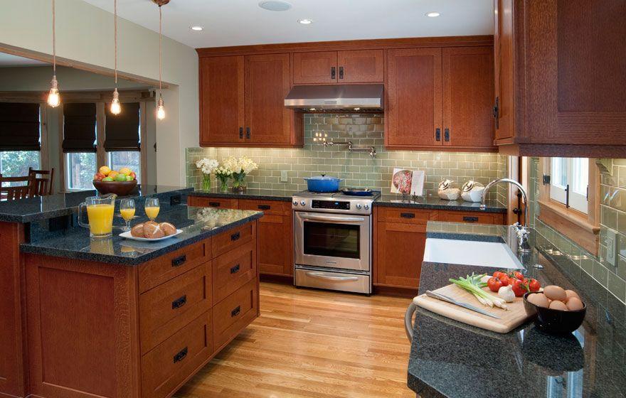 Quarter Sawn Oak Cabinets Kitchen