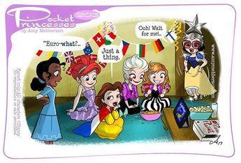 "Amy Mebberson on Instagram: ""Pocket Princesses 203: Eurovision!!!Please do not repost. Share at facebook.com/pocketprincesses & reblog at amymebberson.tumblr.com…"""