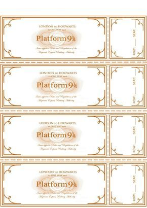 Make Your Own Tickets Template Free Harry Potter Hogwarts Express Ticket Template Plus Links To .