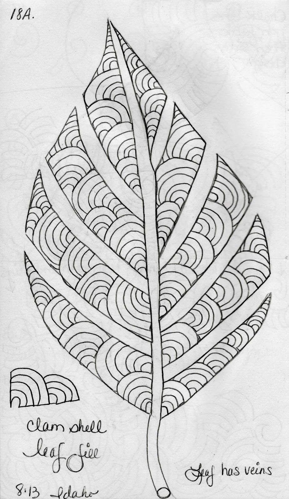 LuAnn Kessi: Sketch Book.....Leaf Designs 5