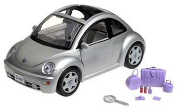 Barbie Volkswagen New Beetle Silver Came With Stickers Fake Money And Pport