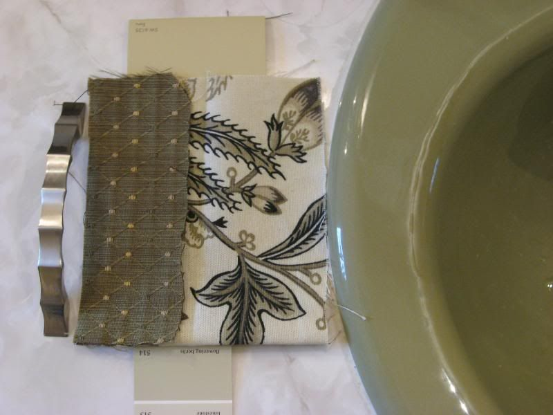This Woman Redid Her Avocado Green Bathroom With These Fabrics, Pulls Etc.