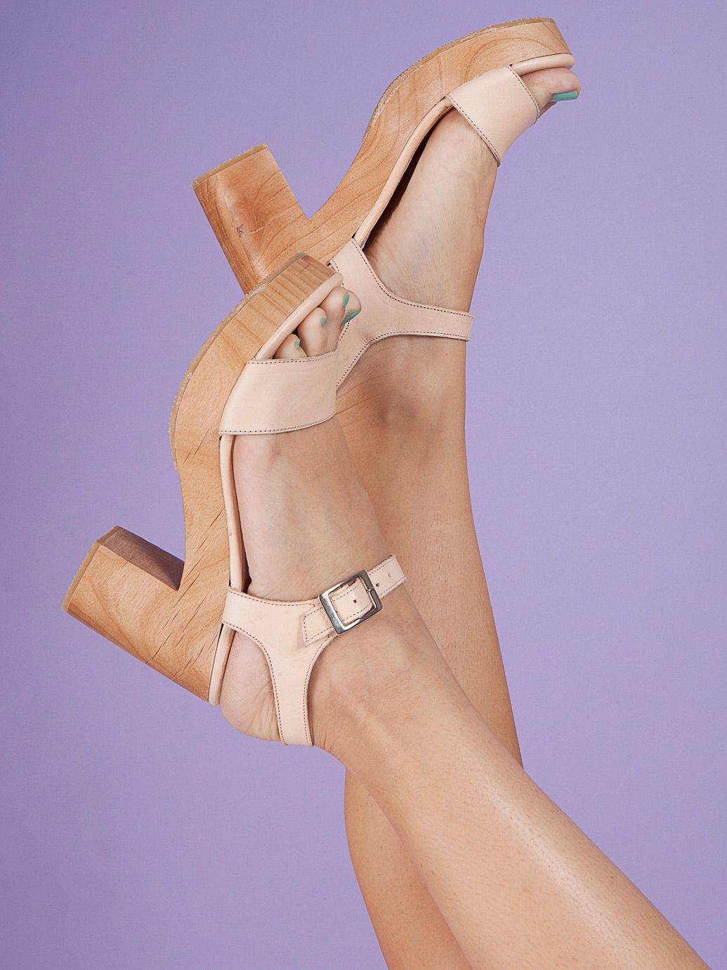 df5936ee16a Wooden Heel Sandal by  AmericanApparel  wooden  sandals