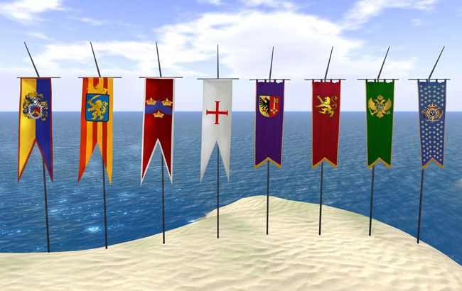 Flags Castle Flags Medieval Banners Deluxe Pack Copy Mod Medieval Banner Medieval Medieval Festival