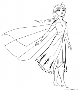 Free Coloring Pages Elsa Frozen 2 in 2020   Elsa coloring ...