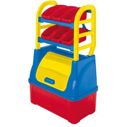 American Plastic Toys Kids Blue and Red Toy Organizer