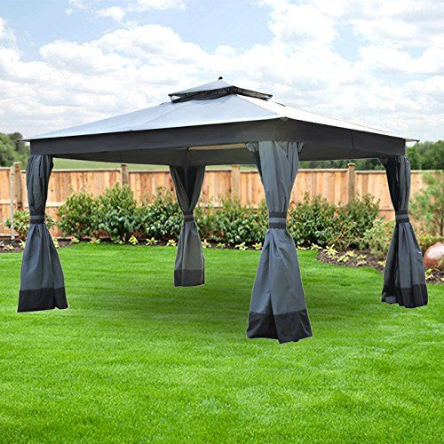 10 X 12 Two Tier Finial Gazebo Replacement Canopy Riplock 350 To View Further For This Item Visit The Im Gazebo Replacement Canopy Gazebo Pergola With Roof