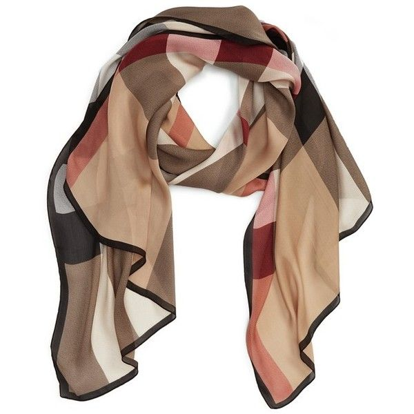 Burberry 'Ultra Mega Check' Washed Mulberry Silk Scarf | Nordstrom