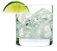 Sparkling Water w/ Lime Wedge