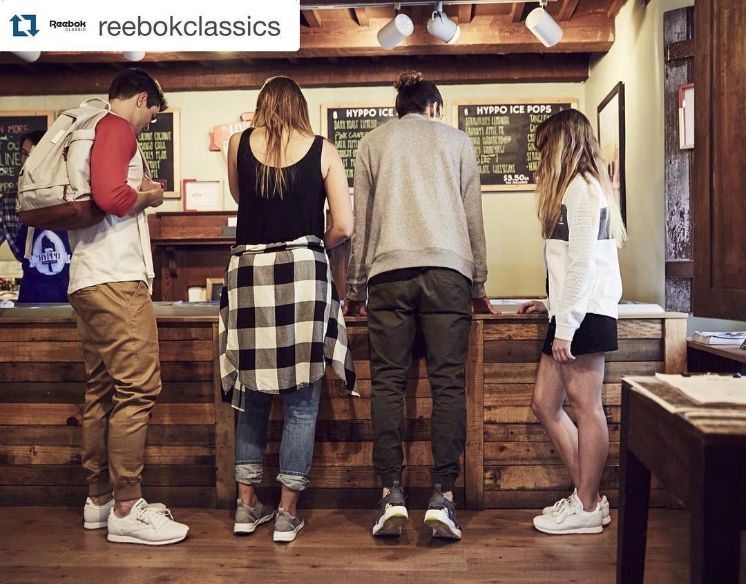 #Repost @reebokclassics When fresh fruit and fresh kicks collaborate. Thanks Reebok for coming to visit! #thehyppo  When the whole #squad is on . #ClassicLeather #Furylite #friends #sneakerstyle #thisISclassic by thehyppo