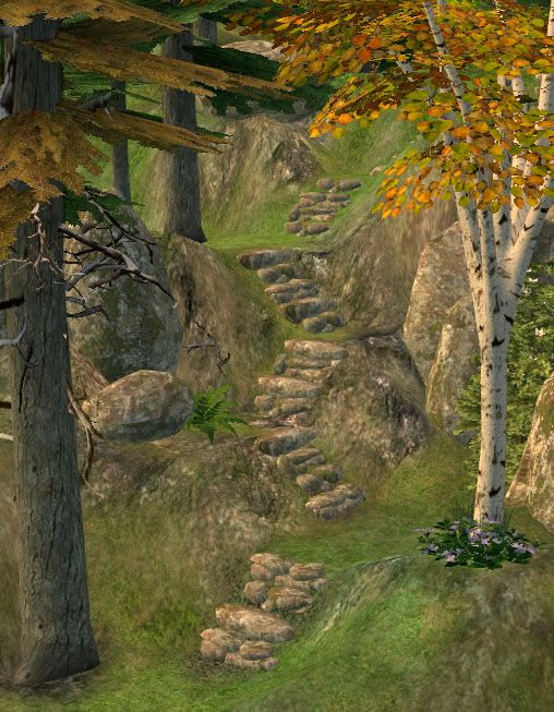 Mod The Sims - Designable modular stone stairs, with shape options