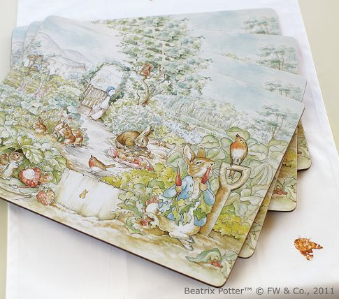 Pottery Barn Peter Rabbit Placemats Pottery Barn Kids