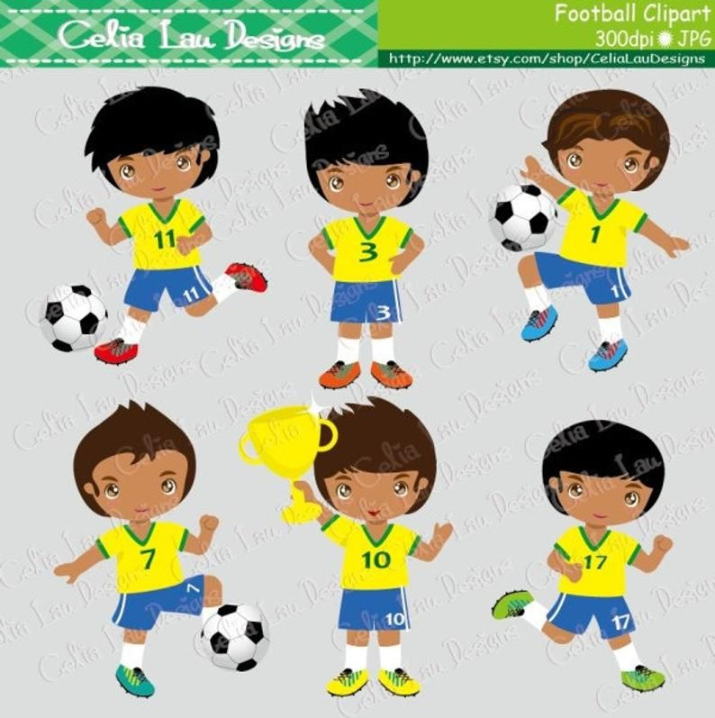 Football Party Clipart Soccer Party Football Soccer Clip Etsy Party Clipart Sports Party Invitations Soccer Party