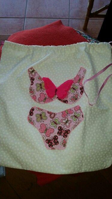 Sacola para guardar lingerie - patch apliquée