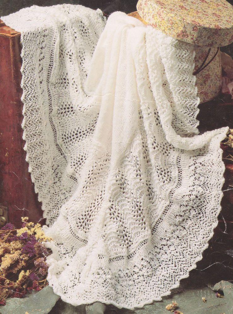 Knitting Pattern Baby Shawl | eBay | crafts | Pinterest | Baby shawl ...