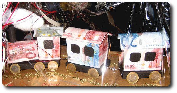 Geldgeschenk Zug Geschenke Gifts Gift Wrapping Und Origami