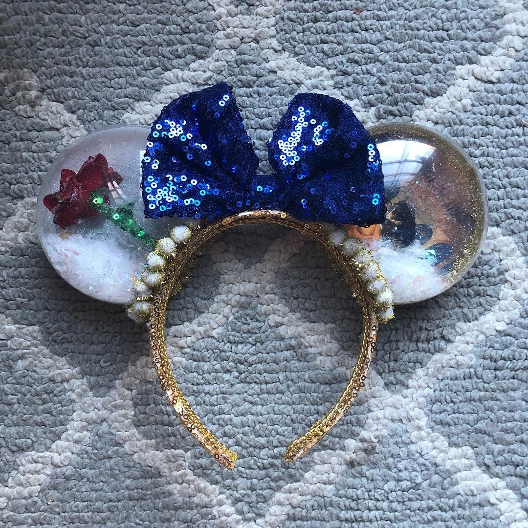 Love These Snow Globe Beauty And The Beast Ears Disney Wdw
