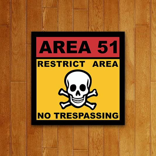 Placa Decorativa Area 51