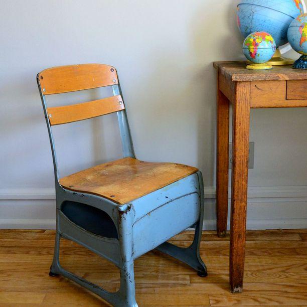 vintage schoolhouse chair pinterest school chairs vintage