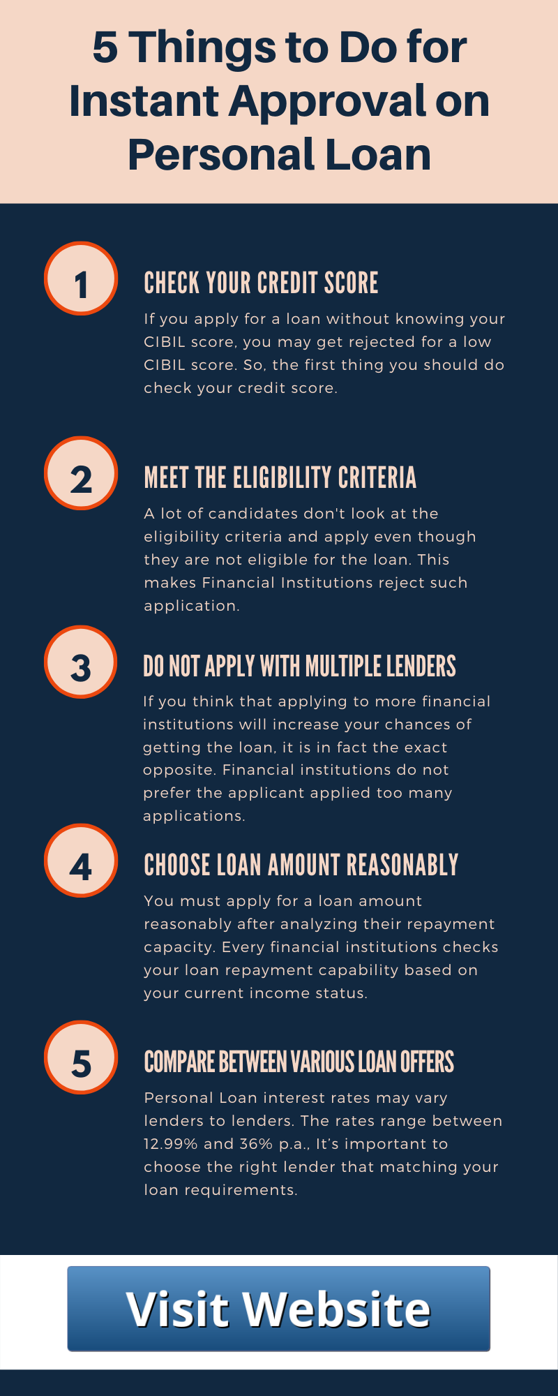 5 Things To Do For Instant Approval On Personal Loan Personal Loans Loan Personal Loans Online