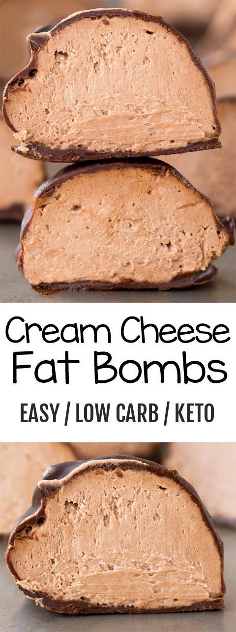 Low Carb Keto Cream Cheese Bombs #creamcheeserecipes