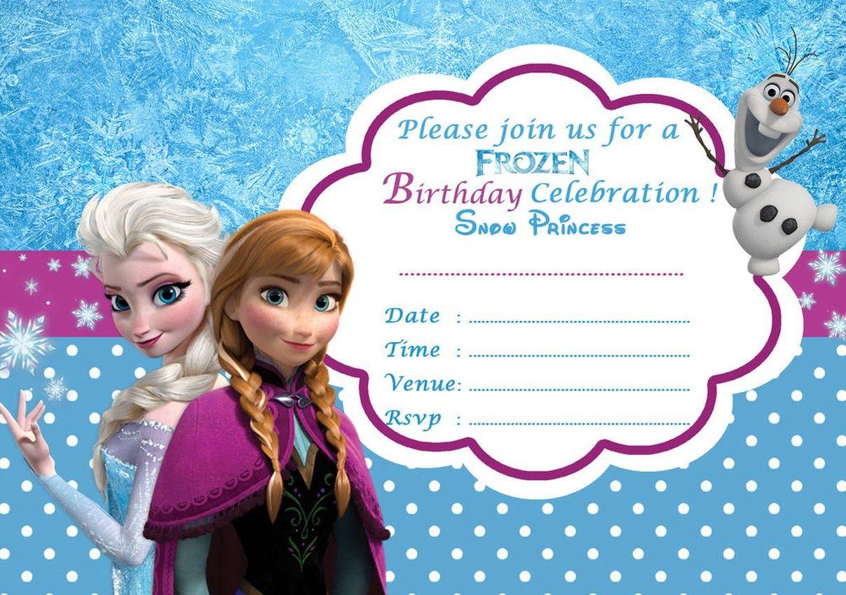 Disney Frozen Birthday Party Invitation Template Printable