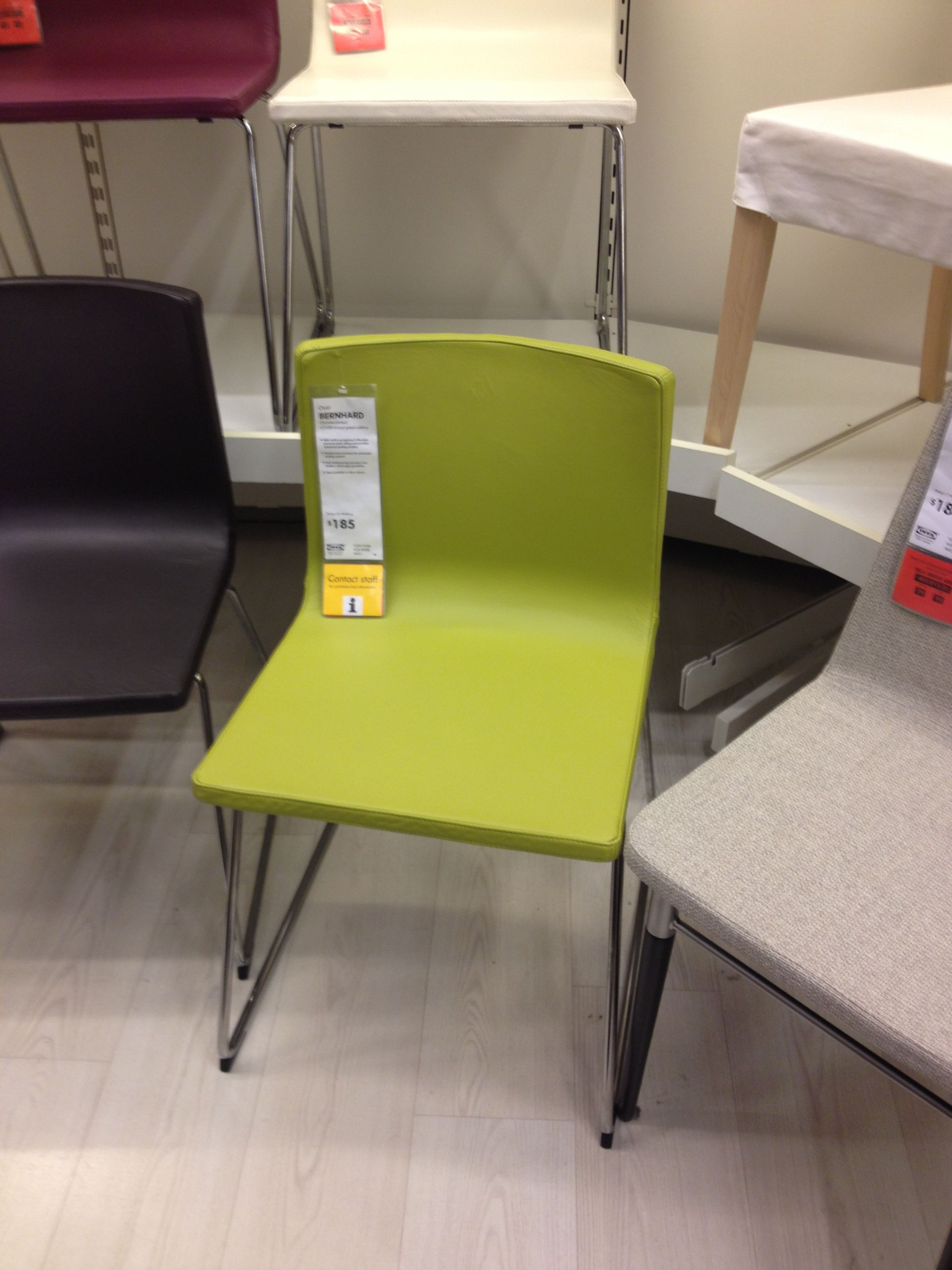 Lime Green Leather Dining Chair - Ikea & Lime Green Leather Dining Chair - Ikea | Palm Springs | Pinterest ...