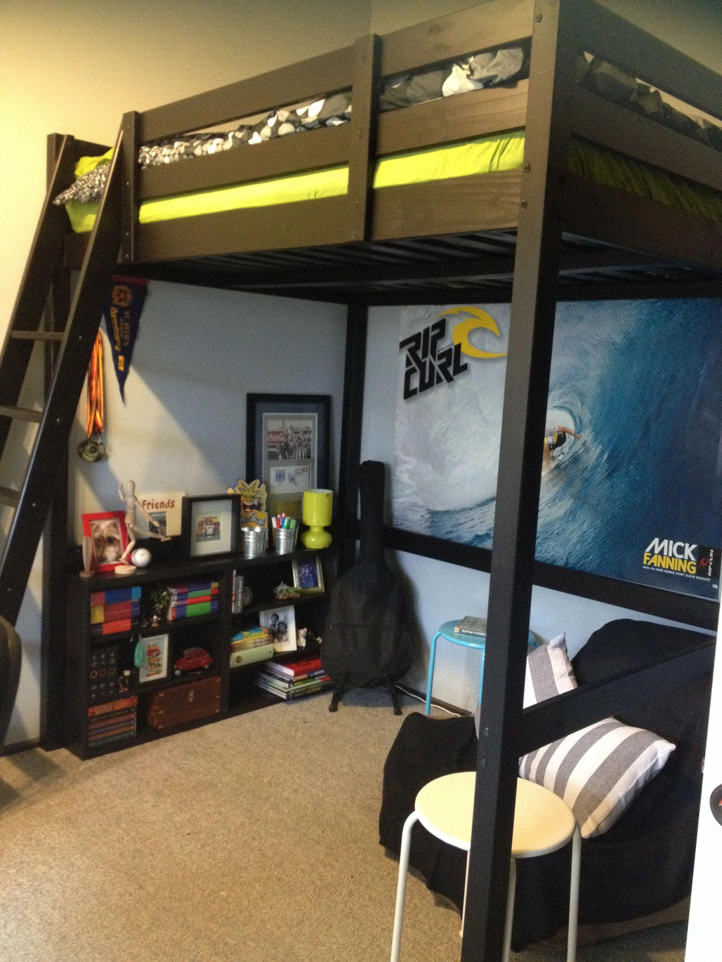 Astounding Boys Bedroom Red Head To Our Piece For A Lot More Designs Boysbedroomred Loft Bed Plans Bedroom Loft Loft Bed
