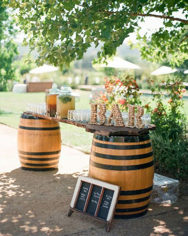 25 Outdoor Wedding Drink Station And Bar Ideas For Summer