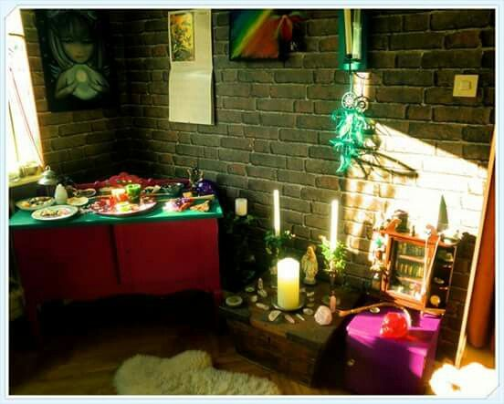 My magickal working place and altar...