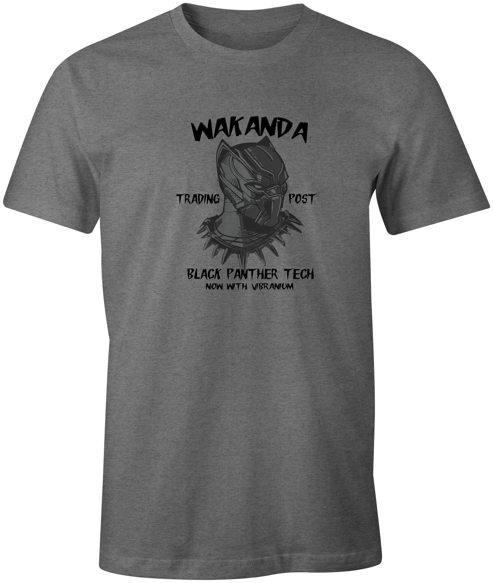 Marvel negro pantera T Shirt Wakanda África (4) para hombre, para niños, color negro, gris, gris, hombreL