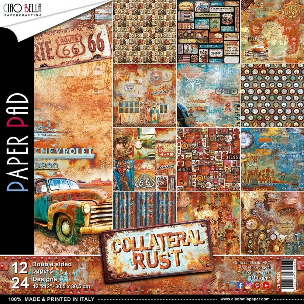 Ciao Bella Collateral Rust 12 Designs 2 Each Paper Pads
