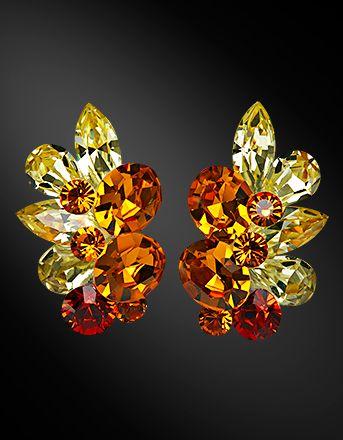 Zdenka Akro Rhinestone earring UH06017-142 - Rhinestone Jewelry | Dancesport Fashion @ DanceShopper.com
