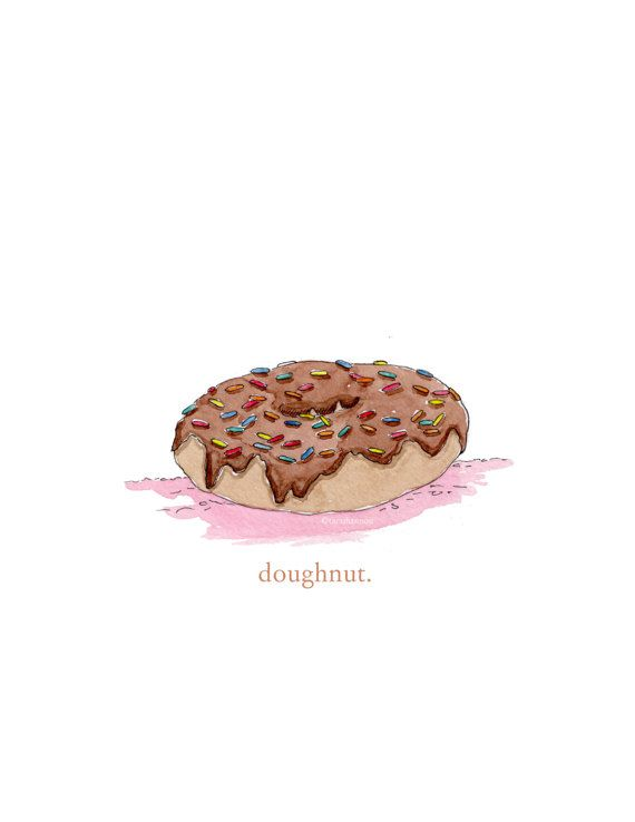 DOUGHNUT PRINT Wall Art Fun Food Sprinkles Print by Meant4amoment