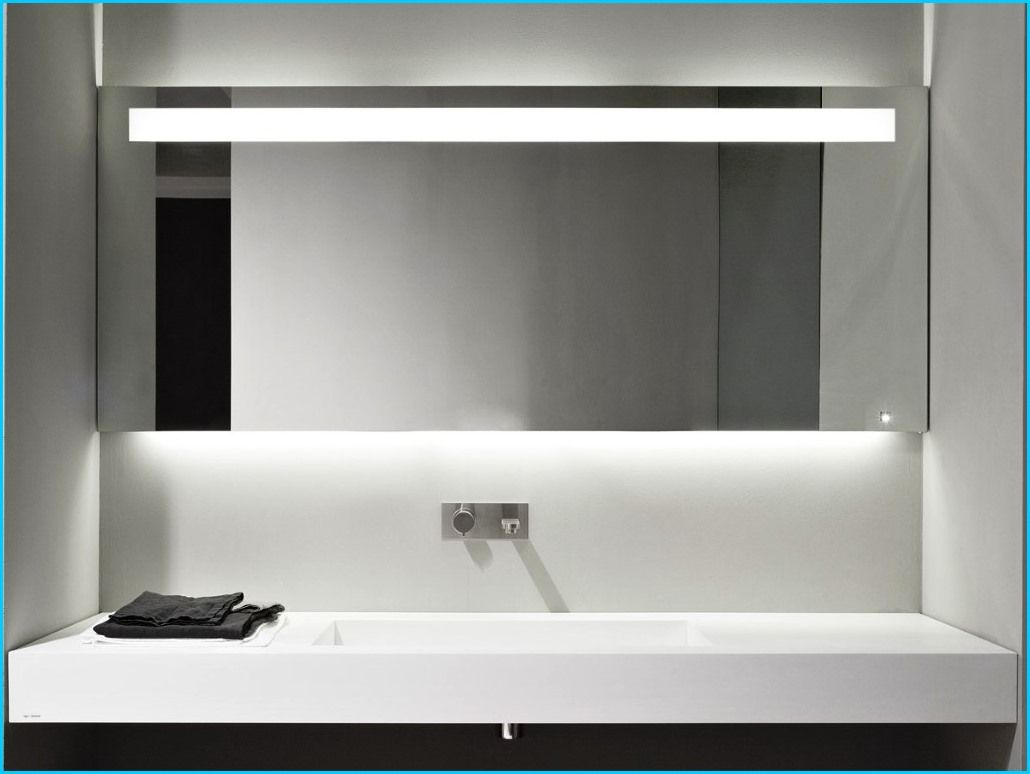 Modern Bathroom Vanity Led Light Crystal Front Mirror: Public Bathroom Mirror