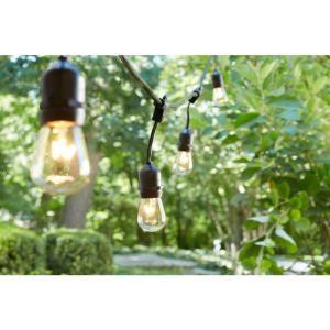 "ROPE STRING LIGHT 24/"" Hampton Bay Black Commercial Backyard Incandescent Bulb"