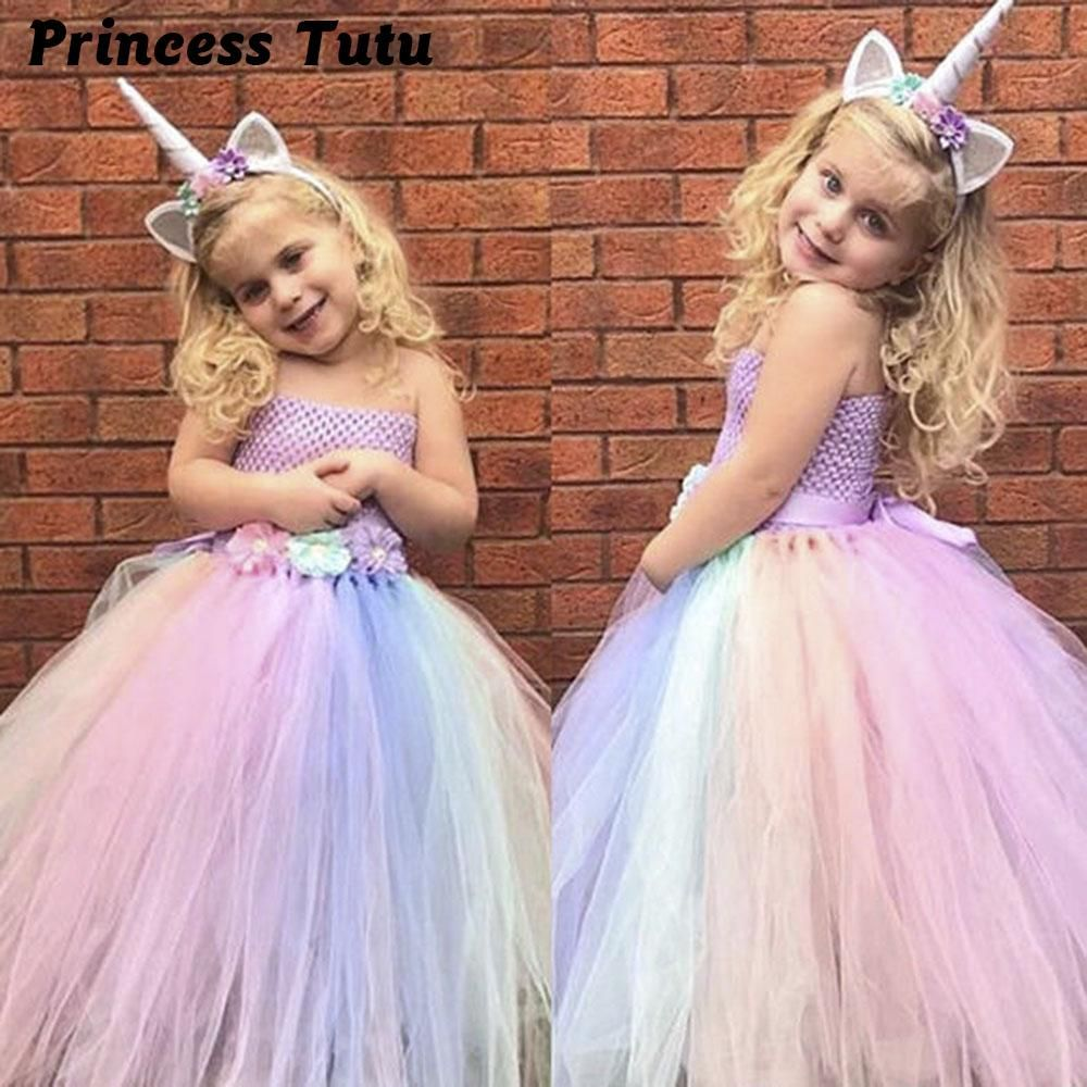 ddeadffa900e Baby Girl Summer Wedding Tutu Dress Elegant Pink Mint Flowers Girls ...