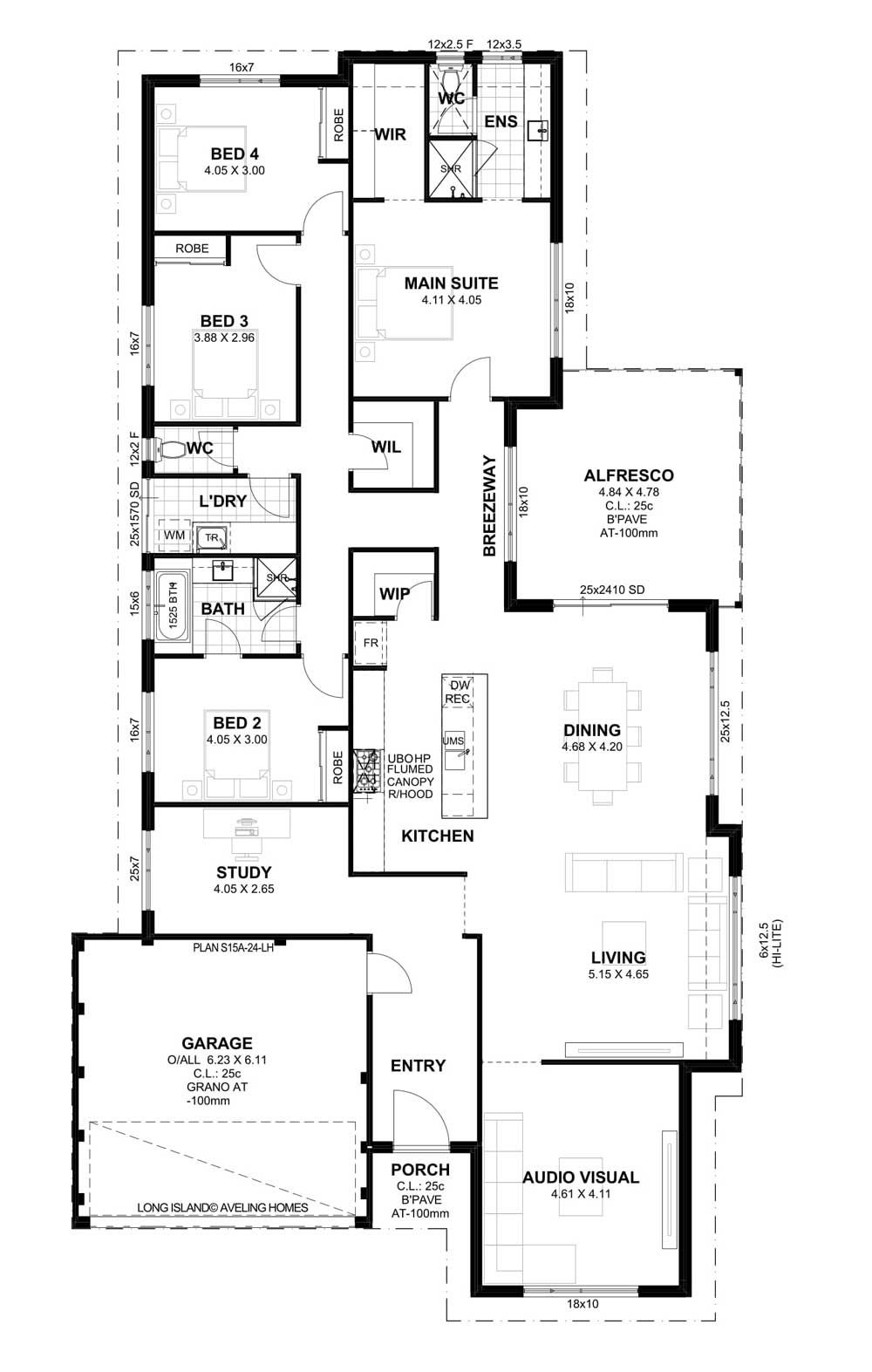 Aveling Homes Home Builders Perth 4 bedroom house