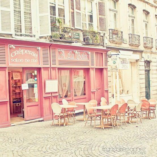 Pink Creperie in Paris