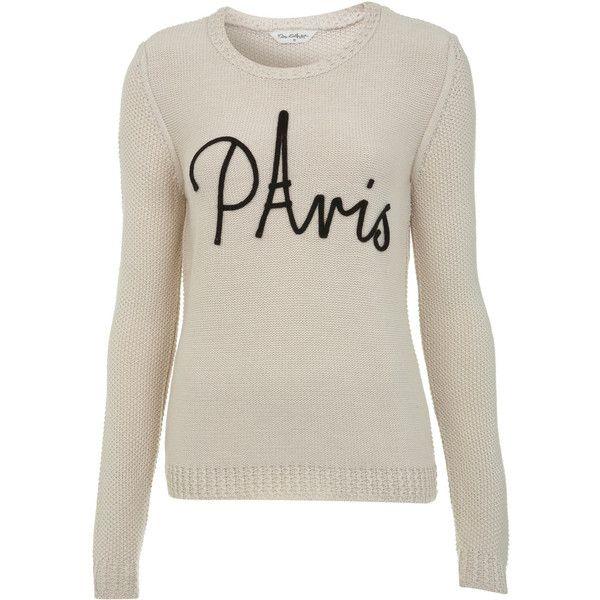 Miss Selfridge Paris Jumper ($62) ❤ liked on Polyvore