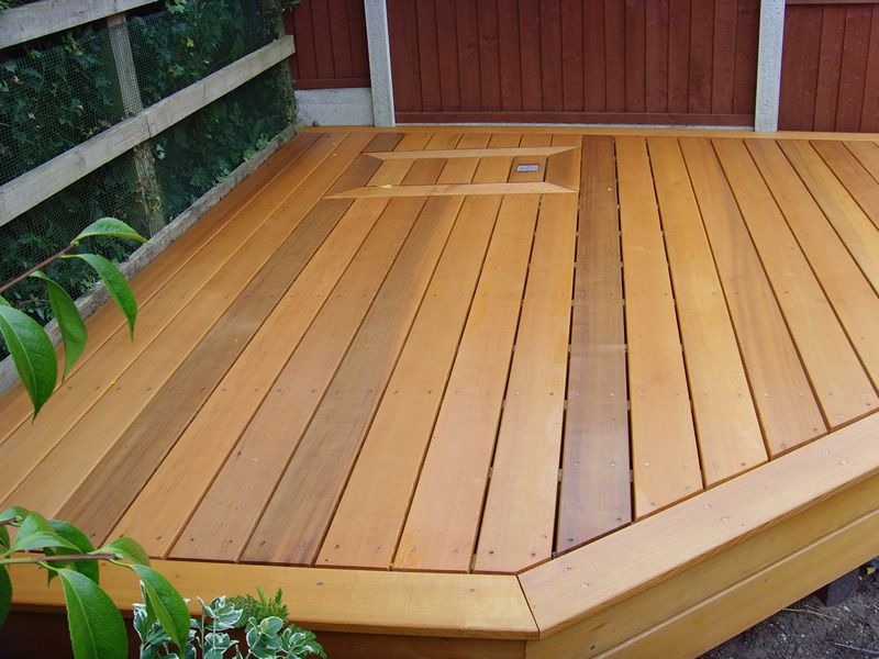 Clear cedar decking like this cedar without the knotty for Redwood vs composite decking