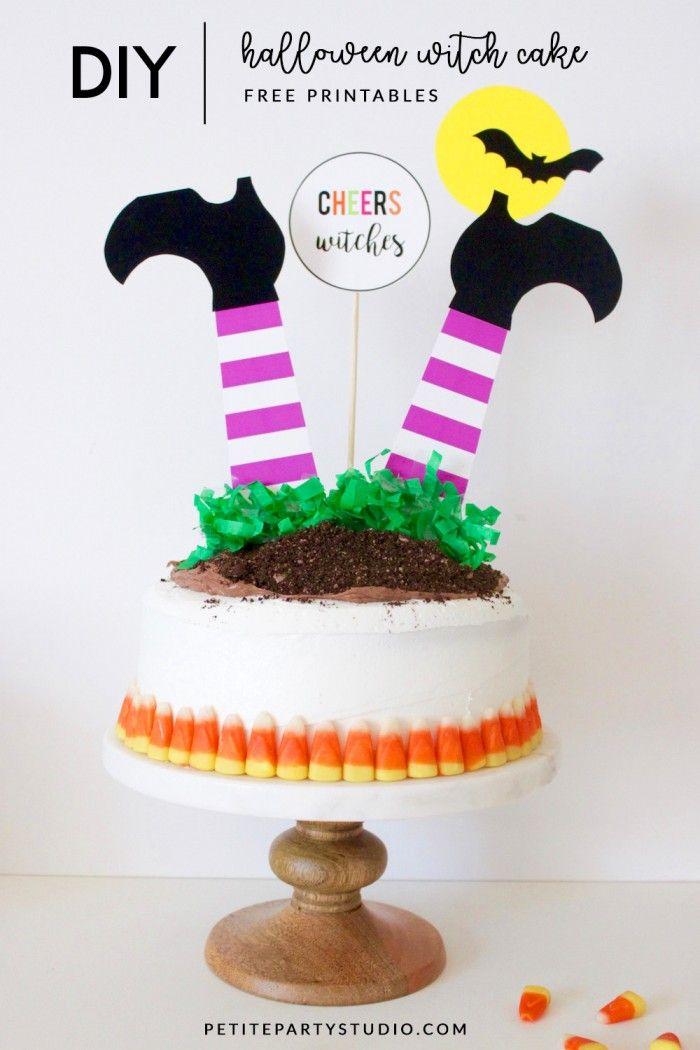 DIY Halloween Cake Free halloween printables, Gardens and DIY - halloween decoration printables