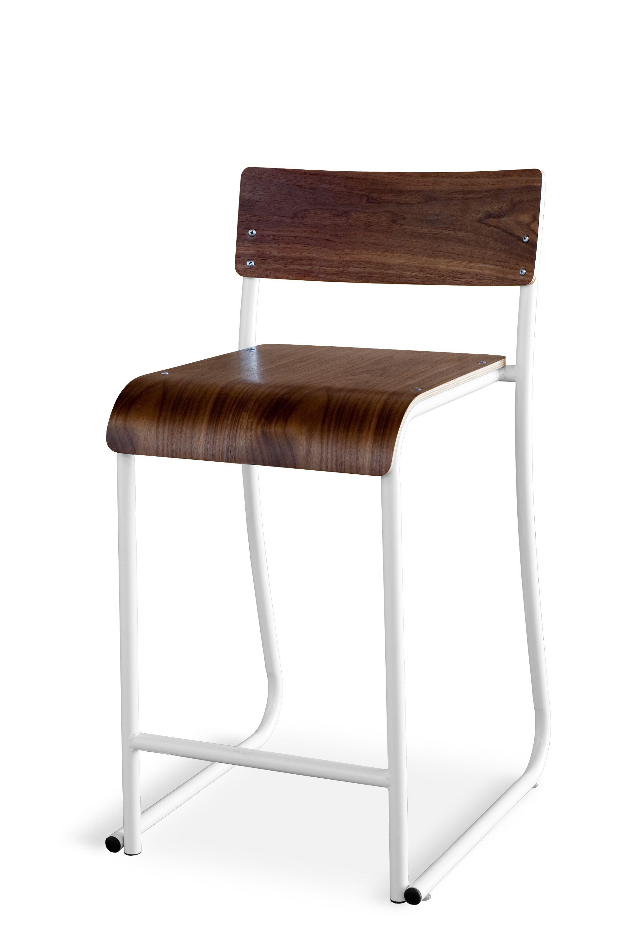 Remarkable Church Stool Walnut White Gus Modern Gus Modern Bralicious Painted Fabric Chair Ideas Braliciousco