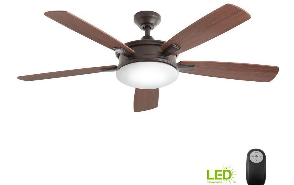 Home Decorators Collection Carrington 60 In Led Indoor Outdoor Natural Iron Ceiling Fan With Light Kit Yg419 Ni The Home Depot Ceiling Fan With Light Ceiling Fan Fan Light