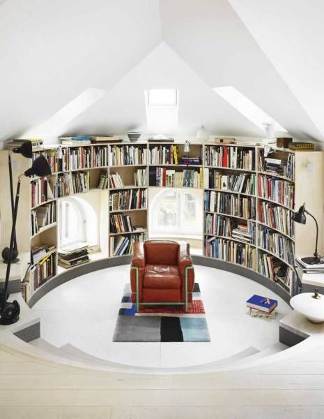 Fantastic Custom Home Library Design to Your House: Cool In White ...