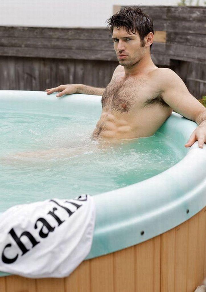 Model Bo Roberts taking a dip in the jaccuzi | MEN IN ...