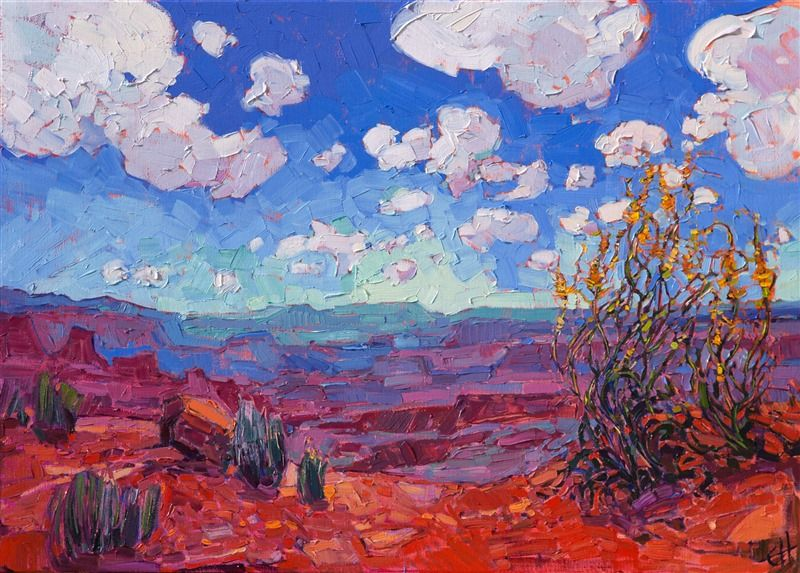 Canyonlands National Park Landscape Oil Painting For Sale By Modern Impressionist Erin H Fine Art Prints Artists Oil Painting Texture Desert Painting