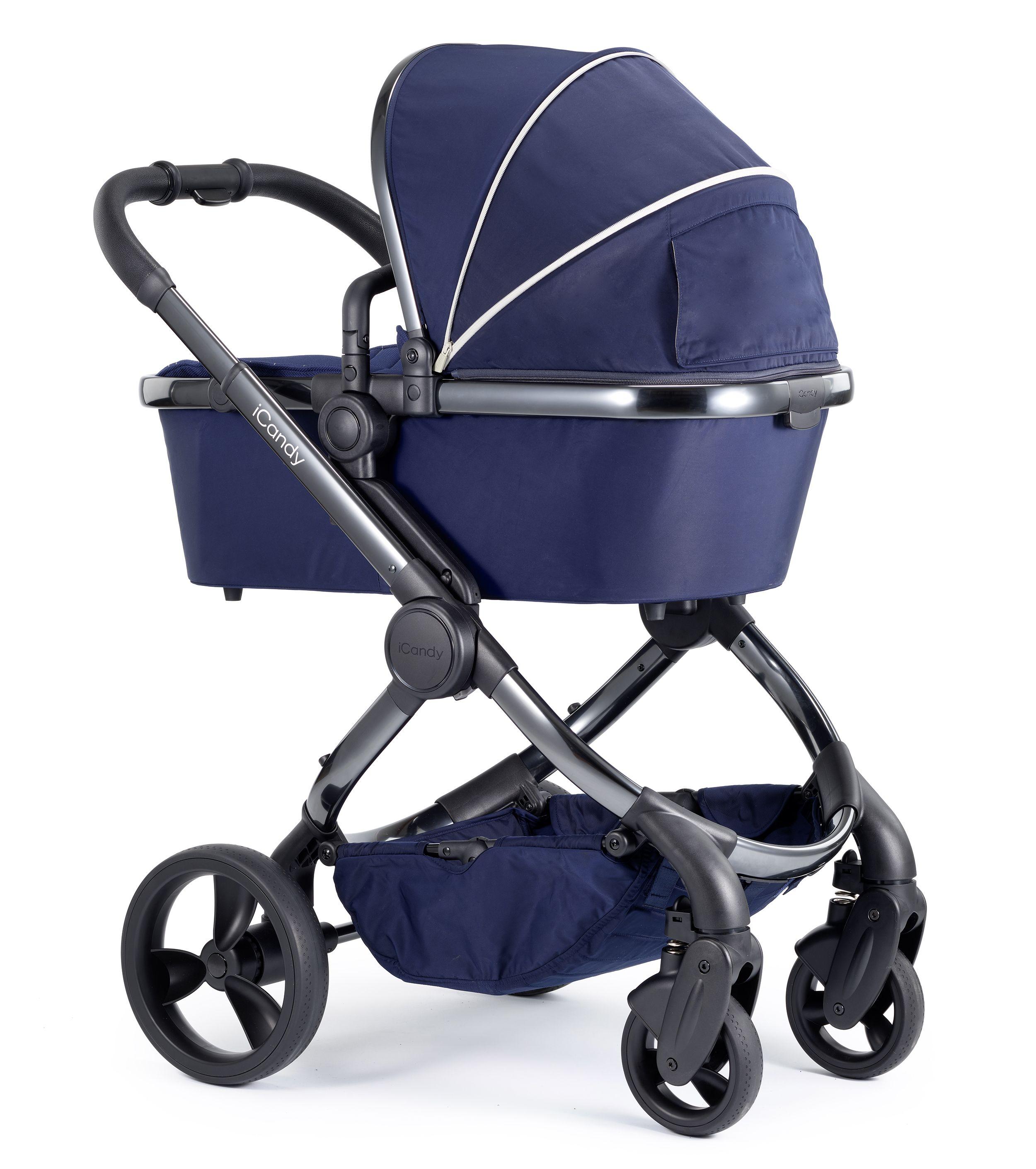Baby Boys Blue Grey 3in1 Stroller Silver Newborn Kids Buggy Pushchair Pram