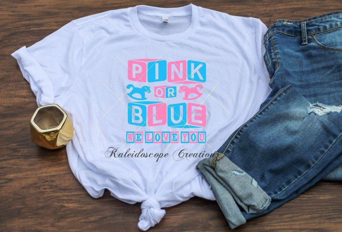 Download pink or Blue we love you Baby Shower or Gender Reveal ...