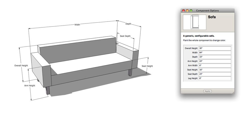 Couch And Loveseat Dimensions